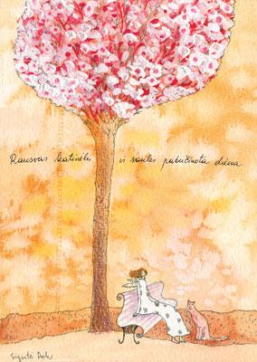 AM132/127 Rausvas katinėlis ir saulės pabučiuota diena