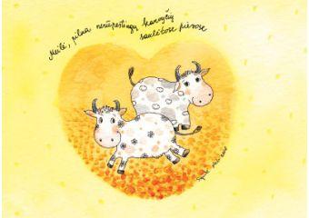 AM122/387 Meilė, pilna nerūpestingų karvyčių saulėtose pievose