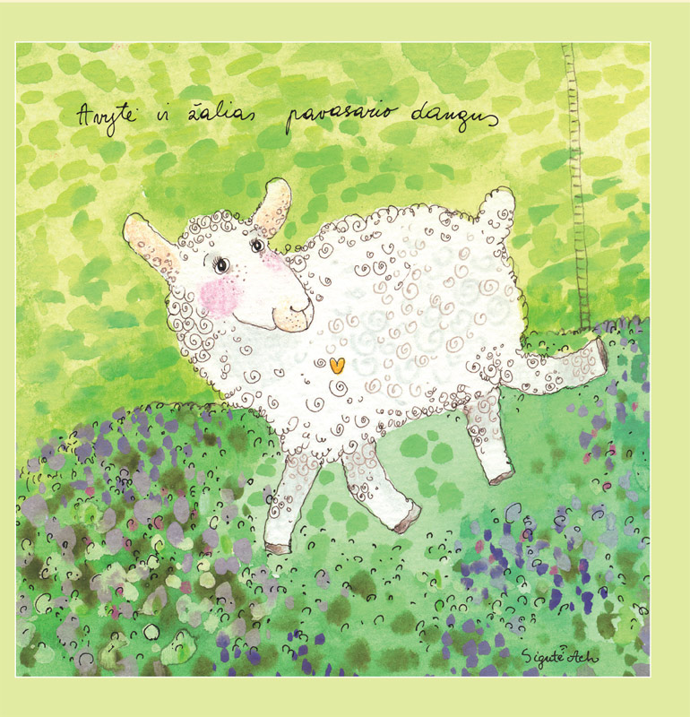 The Little Sheep and the Green Spring Sky