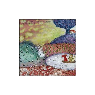 R42 Švelnus ir violetinis vakaras su angelu ir raibuliuojančiu ežerėliu