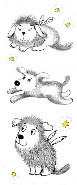 """Skirtukas knygai """"Trys šuniukai"""""""