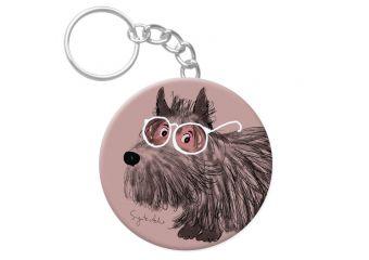 P43. Raktų pakabukas Šuo pro rožinius akinius