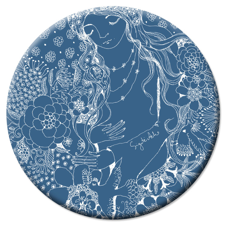 VD38 Veidrodėlis Mėlyna mūza