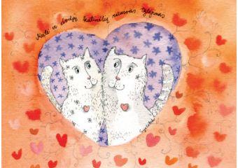 AM123/387 Meilė ir dviejų katinėlių rausvas tylėjimas