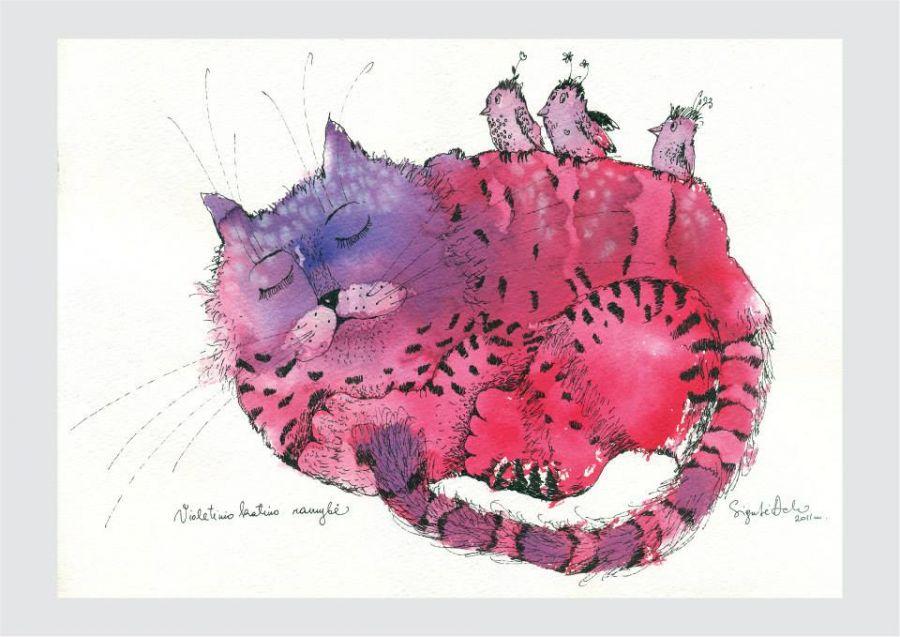 Violetinio katino ramybė