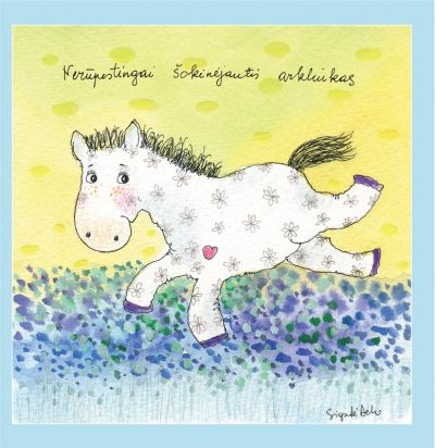 Nerūpestingai šokinėjantis arkliukas