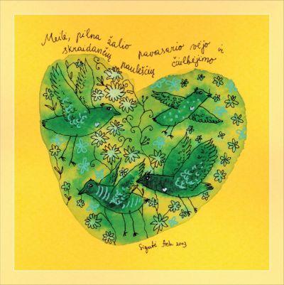 Meilė, pilna žalio pavasario vėjo ir skraidančių paukščių čiulbėjimo