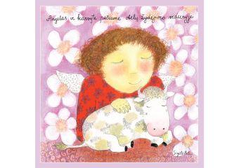 Angelas ir karvytė pačiame obelų žydėjimo viduryje