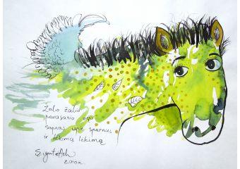 Žalio žalio pavasario vėjo sapnas apie sparnus ir lėkimą lėkimą