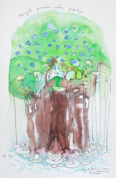 Ramybė pasaulio medžio papėdėje
