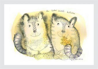 Du labai saulėti katinėliai