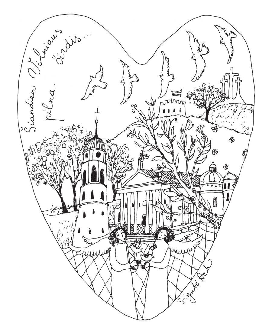 Šiandien Vilniaus pilna širdis...