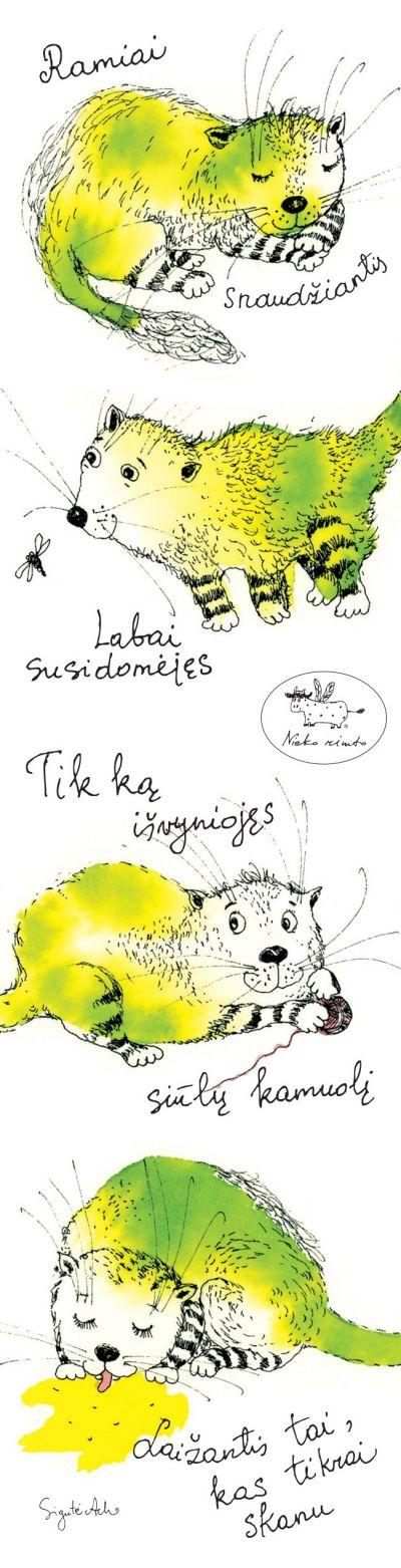 Skirtukas knygai Katinukai